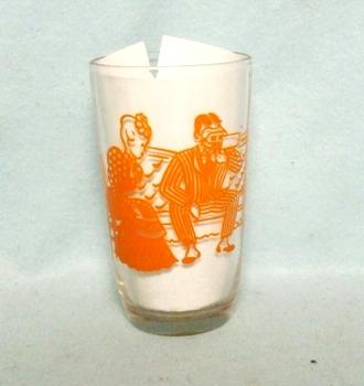 "Swanky Swig Orange Woman Knitting 3 1/2"" Tall - Product Image"