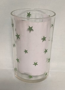 "Swanky Swig Rare Green Stars 3 1/2"" Tall - Product Image"