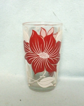 "Swanky Swig Rare Red Poinsettia 3 3/4"" Tall - Product Image"