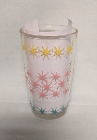 "Swanky Swig Rare Yellow,Pink, and Turquoise Stars 3 1/2"" Tall - Product Image"