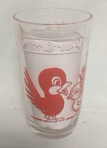 "Swanky Swig Red Elephant & Bird,3 3/4"" Tall - Product Image"