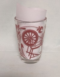 "Swanky Swig Red Spinning Wheel 3 1/2"" Tall - Product Image"