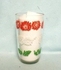 "Swanky Swig Red & White Daisy 3 3/4"" Tall - Product Image"