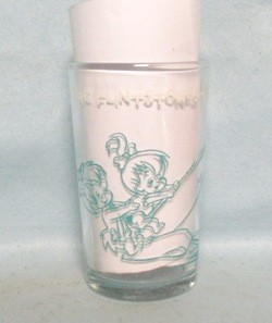 The Flintstones Pebbles Lands A Fish 1964 Collector Glass - Product Image