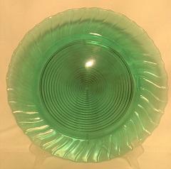 "Ultra Marine Swirl 12 1/2"" Sandwich Plate - Product Image"
