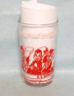 Welches Howdy Doody, Clarabell Clown Collector Glass - Product Image