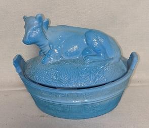 Westmoreland Blue Slag Cow on Nest - Product Image