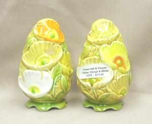 Yellow,Orange,& White Flowered Salt & Pepper - Product Image